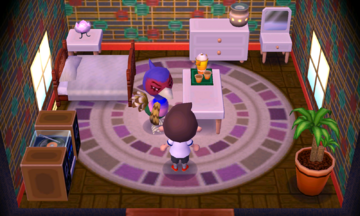 Interior of Phil's house in Animal Crossing: New Leaf