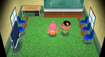 Interior of Spork's house in Animal Crossing: City Folk