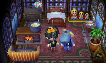 Interior of T-Bone's house in Animal Crossing: New Leaf
