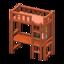 Loft Bed With Desk (Brown - Orange)