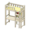 Loft Bed with Desk (White - Yellow) NH Icon.png