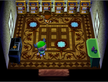 Interior of Anchovy's house in Animal Crossing