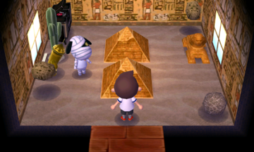 Interior of Lucky's house in Animal Crossing: New Leaf