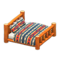 Log Bed (Orange Wood - Geometric Print) NH Icon.png