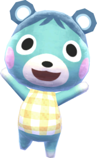 Bluebear, an Animal Crossing villager.