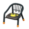 Baby Chair (Black - Paw Print) NH Icon.png