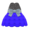 Bubble-Skirt Party Dress (Blue) NH Icon.png