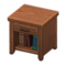 Wooden End Table (Dark Wood) NH Icon.png
