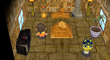 Interior of Ankha's house in Animal Crossing: City Folk