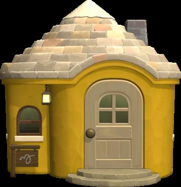 Exterior of Kitt's house in Animal Crossing: New Horizons