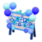 Birthday Sign (Blue) NH Icon.png