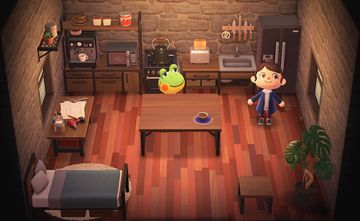 Interior of Henry's house in Animal Crossing: New Horizons
