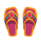 Beaded Sandals (Orange) NH Icon.png