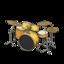 Drum Set (Golden Yellow - Glossy Black)