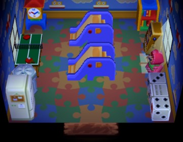 Interior of Paolo's house in Animal Crossing