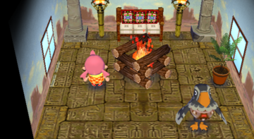 Interior of Avery's house in Animal Crossing: City Folk