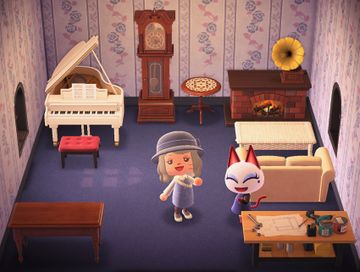 Interior of Olivia's house in Animal Crossing: New Horizons