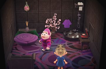 Interior of Violet's house in Animal Crossing: New Horizons