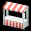 Stall (White - Red Stripes)