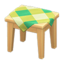 Wooden Mini Table (Light Wood - Green)