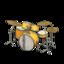 Drum Set (Golden Yellow - Vintage Logo)