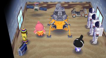 Interior of Dotty's house in Animal Crossing: City Folk