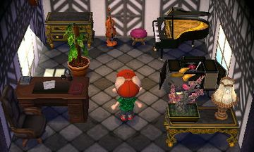 Interior of Nan's house in Animal Crossing: New Leaf