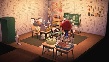 Interior of Ozzie's house in Animal Crossing: New Horizons