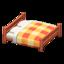 Wooden Double Bed (Cherry Wood - Orange)