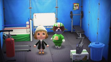 Interior of Big Top's house in Animal Crossing: New Horizons