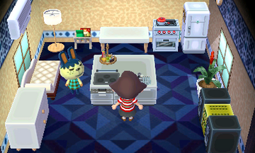 Interior of Pippy's house in Animal Crossing: New Leaf