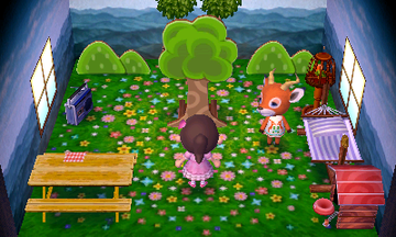 Interior of Beau's house in Animal Crossing: New Leaf