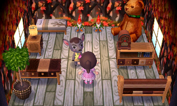 Interior of Deirdre's house in Animal Crossing: New Leaf