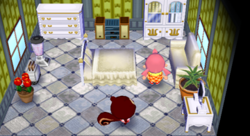 Interior of Pecan's house in Animal Crossing: City Folk