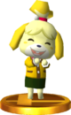 Isabelle (Winter Outfit) SSB4 Trophy (3DS).png