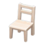 Wooden Chair (White Wood)