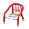 Baby Chair (Red - Bear) NH Icon.png