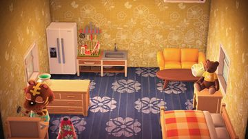 Interior of Bangle's house in Animal Crossing: New Horizons
