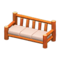Log Extra-Long Sofa (Orange Wood - None) NH Icon.png