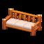 Log Extra-Long Sofa (Orange Wood - None)