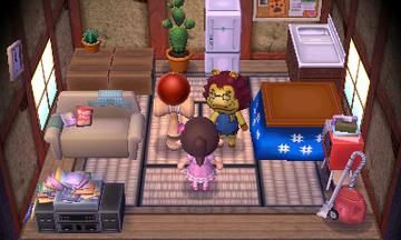 Interior of Mott's house in Animal Crossing: New Leaf