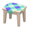 Wooden Mini Table (White Wood - Blue) NH Icon.png