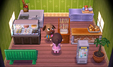 Interior of Bea's house in Animal Crossing: New Leaf