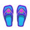 Beaded Sandals (Purple) NH Icon.png