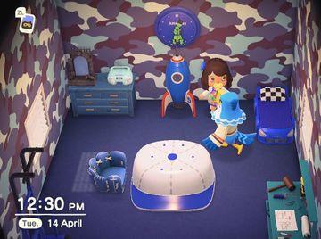Interior of Pierce's house in Animal Crossing: New Horizons