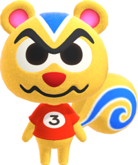 Ricky, an Animal Crossing villager.