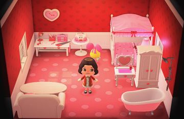 Interior of Penelope's house in Animal Crossing: New Horizons