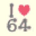 I Love 64 Shirt DnM Texture Upscaled.png