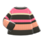 Colorful Striped Sweater (Black, Coral & Pink) NH Icon.png
