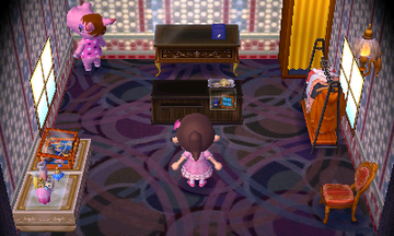 Interior of Bitty's house in Animal Crossing: New Leaf
